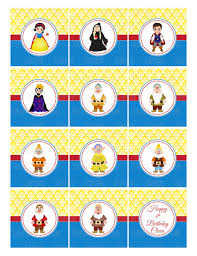 printable version of snow white printable snow white cupcake toppers by party innovations catch my