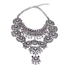 long boho necklace images Zhenhui fashion vintage silver gold tone long boho statement jpg