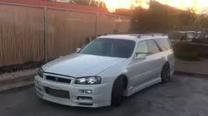 nissan stagea r34 nissan stagea skyline gtr wagon rb26dett youtube
