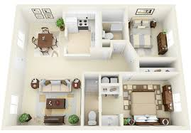 two bedroom cabin floor plans 50 3d floor plans lay out designs for 2 bedroom house or