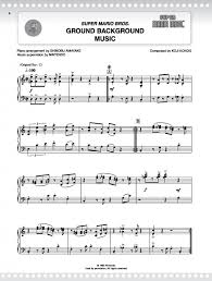 mario series for piano presto sheet