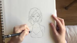 small self portrait sketch my first art video youtube