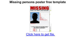funeral booklet sles missing persons poster free template docs