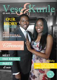 magazine wedding programs vese kunle s magazine wedding programme 3alpha studios