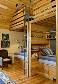 rustic loft design kids farmhouse with metal bunk bed ladder black