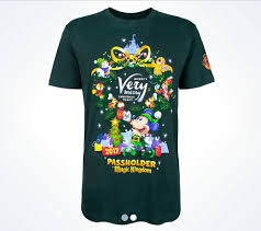 2017 mickey u0027s merry christmas party annual passholder shirts
