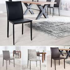 echtleder st hle esszimmer stühle aus leder ebay