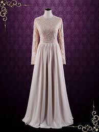 modest lace long sleeves sheath wedding dress megan ieie bridal