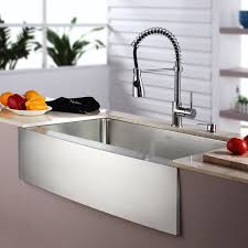 kitchen sink and faucet combo kraus kitchen combos 33 x 21 single basin farmhouse apron