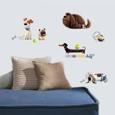 Boys Wall Decor Roommates 5 In W X 11 5 In H Secret Life Of Pets Boys 21 Piece
