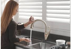 no touch kitchen faucet the sink faucet beautiful no touch kitchen faucet glenshire single
