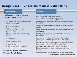 white chocolate mousse recipe cake filling food baskets recipes