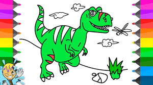 how to draw dinosaur t rex coloring pages learning drawing