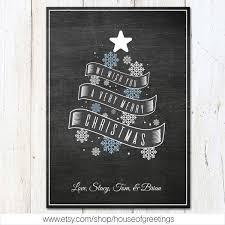 chalkboard christmas card chalk christmas tree holiday card
