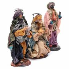 neapolitan nativity figurines magi 18cm sales on holyart