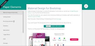 jquery design elements the best 15 material design framework to facilitate web developers