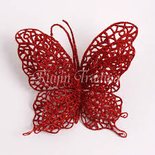 10pcs 7 5cm tree decor glitter hollow butterfly flower