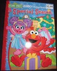 sesame street christmas coloring u0026 activity book elmo u0026 abby