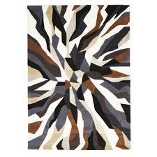 designer wool area rugs crossroads designer wool rug brown white grey free shipping