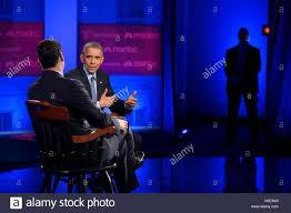 Immigration Special Tv Anchorman Jose Diaz Balart Interviews U S President Barack