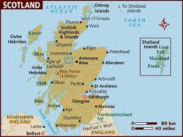 map of and scotland map of scotland