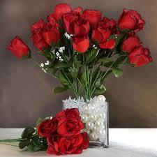 silk rose buds black red 84 pk efavormart
