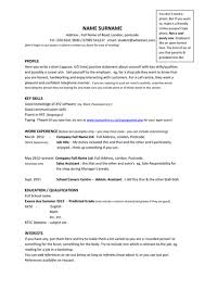 Where To Put Volunteer Work On A Resume Year 11 Model Cv Template U0026 Example Profiles By Barbara50