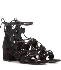 saint laurent black suede babies short gladiator sandals modesens