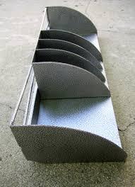 metal desk organizer industrial file folder bin envelope slots