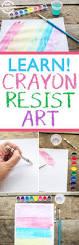 crayon resist white crayon secret art cool