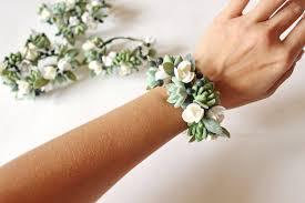 wrist corsage bracelet succulent corsage bracelet wedding flowers succulent