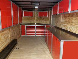 V Nose Enclosed Trailer Cabinets by Photos Of Trailer U0026 Vehicle Lightweight Aluminum Cabinets Moduline
