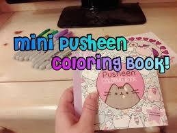 mini pusheen coloring book cute