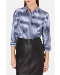how to wear a white and blue gingham dress shirt 14 looks
