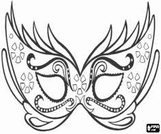 carnival mask coloring pages color pages paper