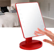 Portable Vanity Table 16pcs Led Lights Illuminuted Makeup Stand Up Mirror Buy Touch