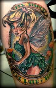 pin up tinkerbell tattoo design