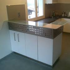 bar meuble cuisine bar de cuisine eric faure ef mobilier contemporain métal et bois