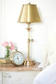 a little brass lamp french country cottage