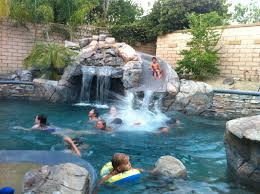 swimming pools with slides and waterfalls 15 rock waterfall