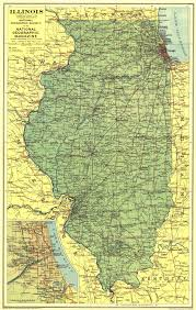 Illinois Map national geographic illinois map 1931 maps com