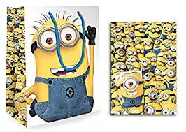 minion gift wrap official despicable me 2 minion large gift bag gift wrap 2 sheets
