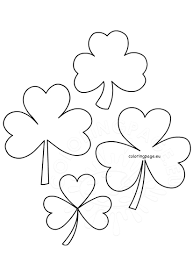 st patrick u0027s day shamrock templates coloring page