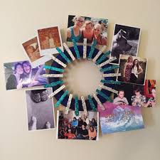 d i y clothes pin photo wreath
