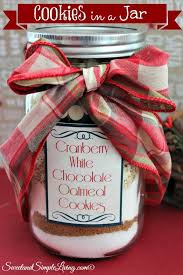 cranberry white chocolate cookies in a jar sweet and simple living