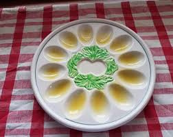 deviled egg platter vintage deviled egg platter etsy
