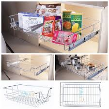 Pull Out Wire Baskets Kitchen Cupboards by Single Tier Pull Out Wire Basket Kitchen Cabinet Pull Out Sliding