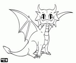 print u0026 download baby dragon coloring pages