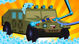 army jeep drawing army jeep car wash for children kids cartoon vehicles youtube