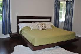 Teak Bed Two Tones Teak Bed Frame For Small Bedroom With Corner Lights